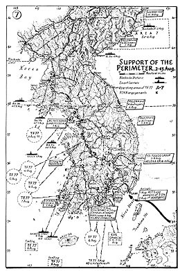Map 7. Support of the Perimeter, 2–13 August 1950.