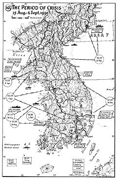 Map 10. The Period of Crisis, 25 August–4 September 1950.