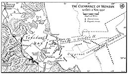 Map 16. The Clearance of Wonsan, 10 October–2 November 1950.