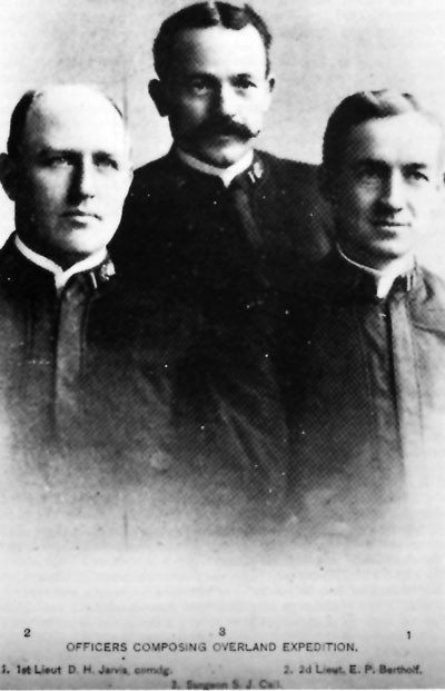 Officers of the Expedition: 1. 1st Lieut. D.H. Jarvis, comdg., 2. 2d Lieut. E.P. Bertholf, 3. Surgeon S.J. Call