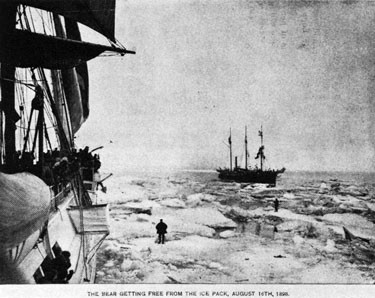 The Bear getting free from the ice pack, August 16th, 1898.