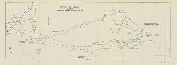 Plate 13-1: Map of Battle of Midway.