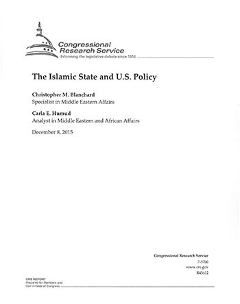 Islamic State and US Policy cover image.