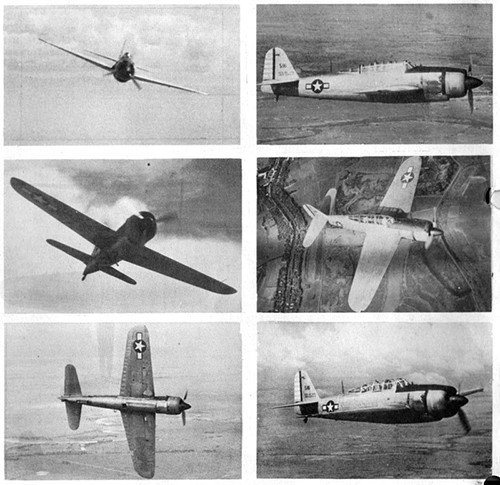 Six images of JUDY 33 Navy Dive Bomber.