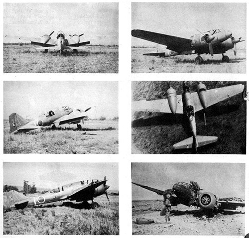 Six images of DINAH 3 Army Reconnaissance Plane.