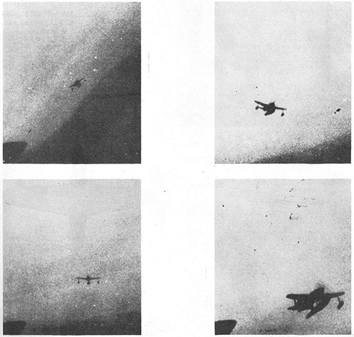 Four images of REX II Navy Fighter Seaplane.