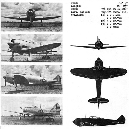 Four images and three silhouettes of TOJO 2 Army Fighter with dimensions.