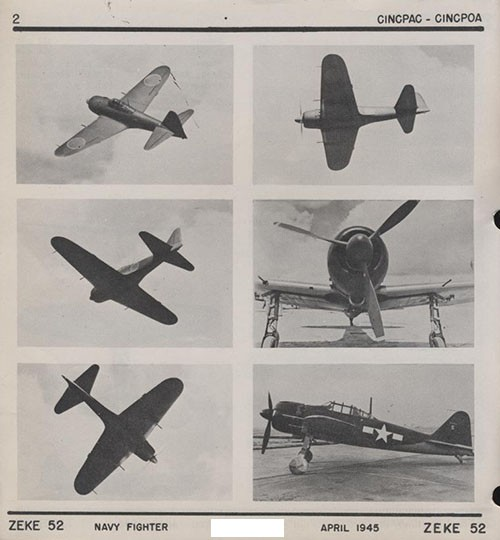 Six images of ZEKE 52 Navy Fighter.