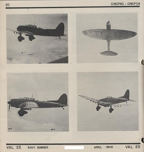 Four images of VAL 22 Navy Bomber.