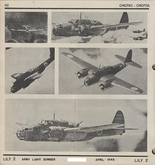 FIVE images of LILY 2 Army Light Bomber.