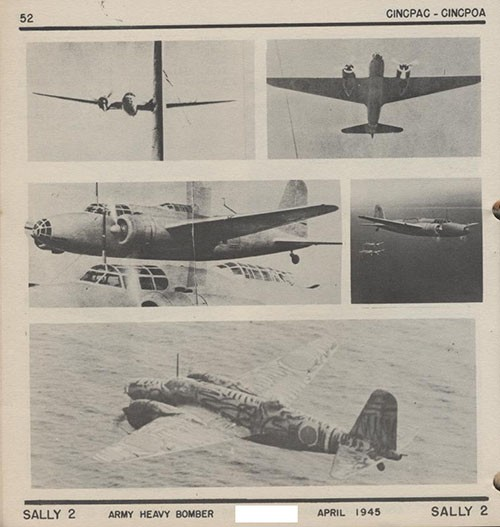 Five images of SALLY 2 Army Heavy Bomber.