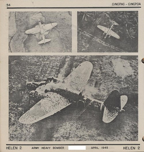 Three images of HELEN 2 Army Heavy Bomber.