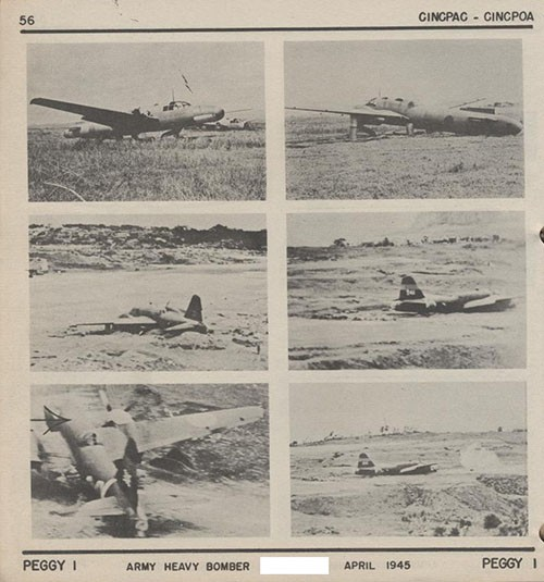 Six images of PEGGY I Army Heavy Bomber.