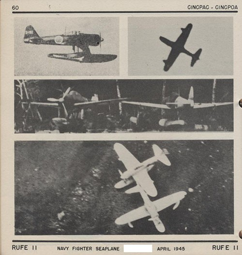 Four images of RUFE II Navy Fighter Seaplane.