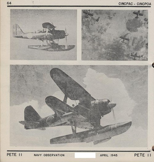Three images of PETE II Navy Observation.