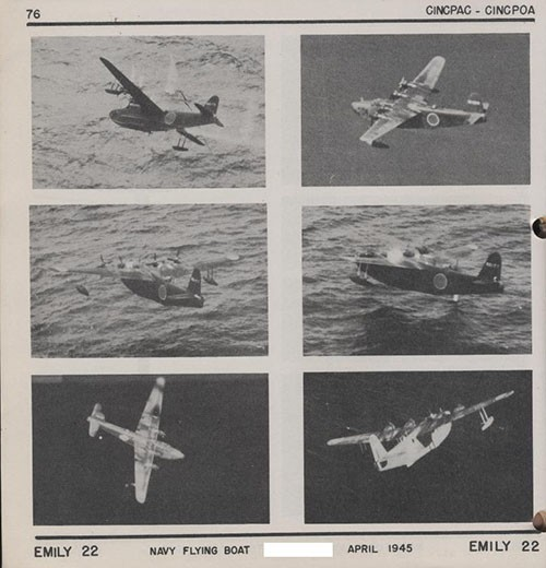 Six images of EMILY 22 Navy Flying Boat.