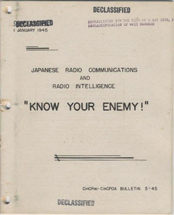 Image of cover - 'Japanese Radio Communications and Radio Intelligence.'