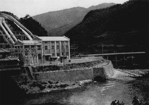 A powerhouse by a mountain stream in Kyushu.