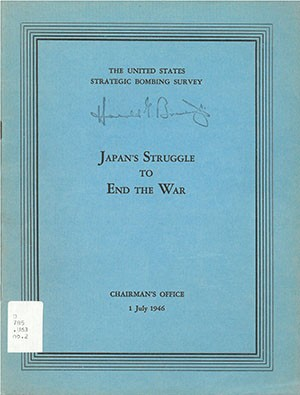 "Cover image - ""Japan's Struggle to End the War"""