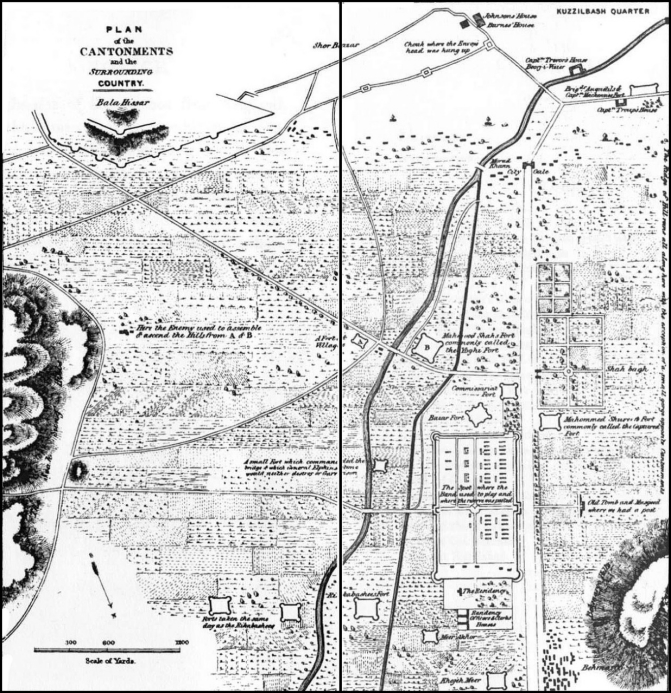 Plan of the Cantonments and the Surrounding Country--Bala Hissar