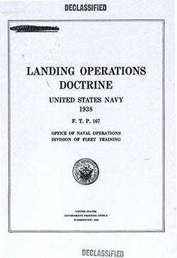 Title page of 'Landing Operations Doctrine'.