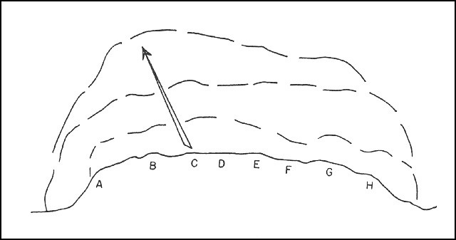 Fig. 9: Diagram of scheme of maneuver.