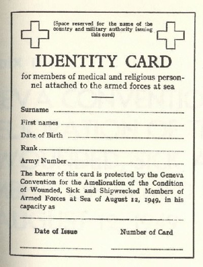 Image of front side of ID card.