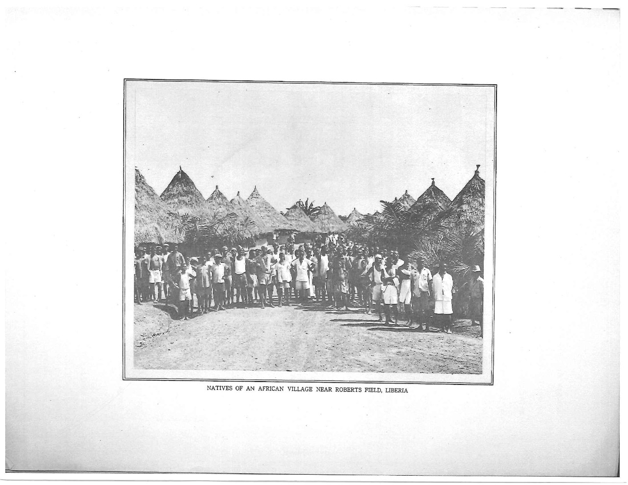 Natives of an African village near Roberts Field, Liberia