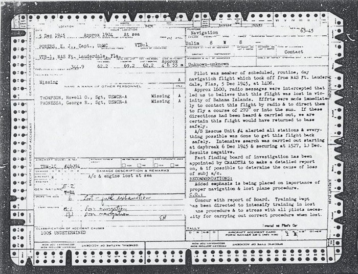 Image of Captain E. J. Powers, USMC - Official Accident Report