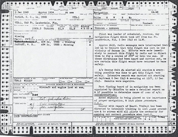Image of Lieutenant C. C. Taylor, USNR - Leader of flight official accident report.