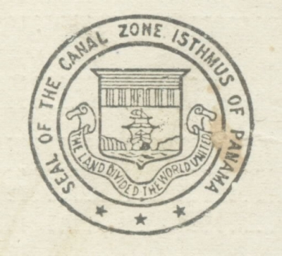 "Image of seal: ""Seal of the Canal Zone Isthmus of Panama"