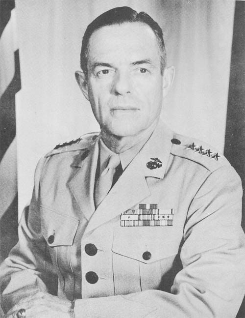 General Wallace M. Greene, Jr., Commandant of the Marine Corps.