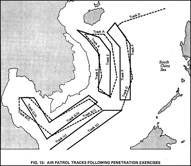 Figure 13: AIR PATROL TRACKS FOLLOWING PENETRATION EXERCISES