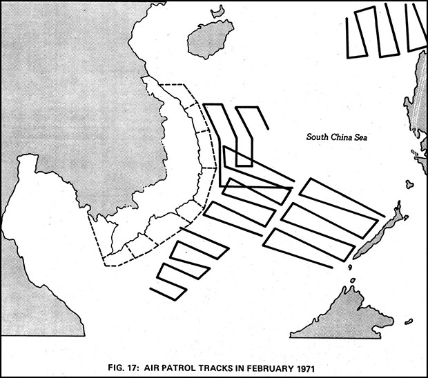 Figure 17: AIR PATROL TRACKS IN FEBRUARY 1971