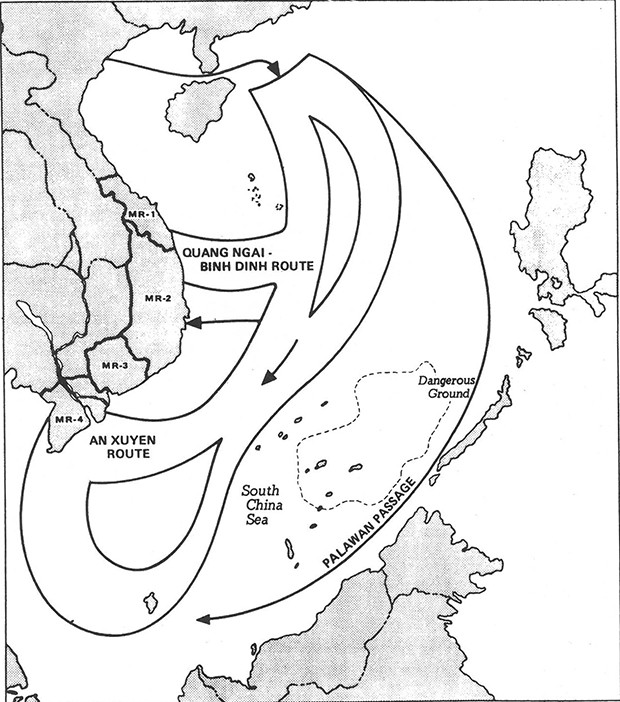 Figure 8: MAIN TRAWLER CORRIDORS DURING FIRST INFILTRATION ERA