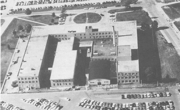 Aerial view of U.S. Navy Oceanographic Office, Suitland, Maryland.