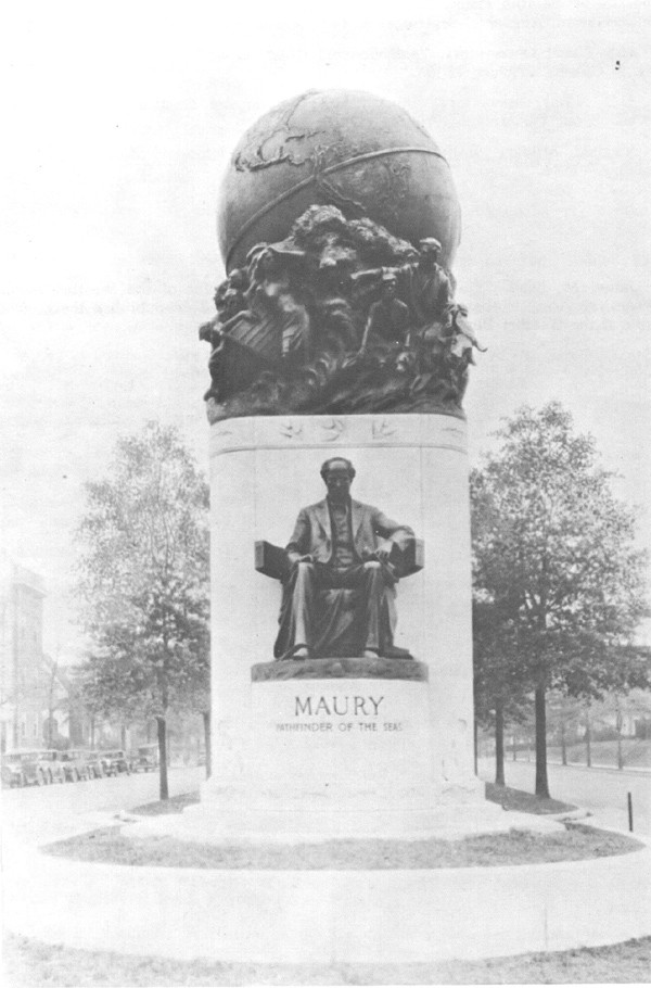 Monument of M. F. Maury - Pathfinder of the Seas