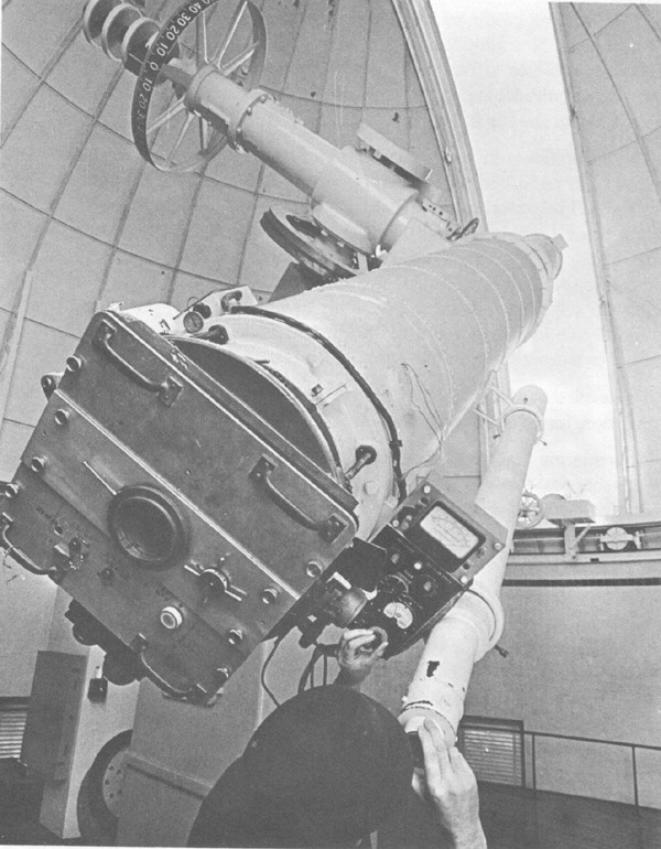 Twenty-six inch refractor telescope, the largest telescope in the U.S. Naval Observatory.