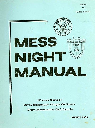 Mess Night Manual