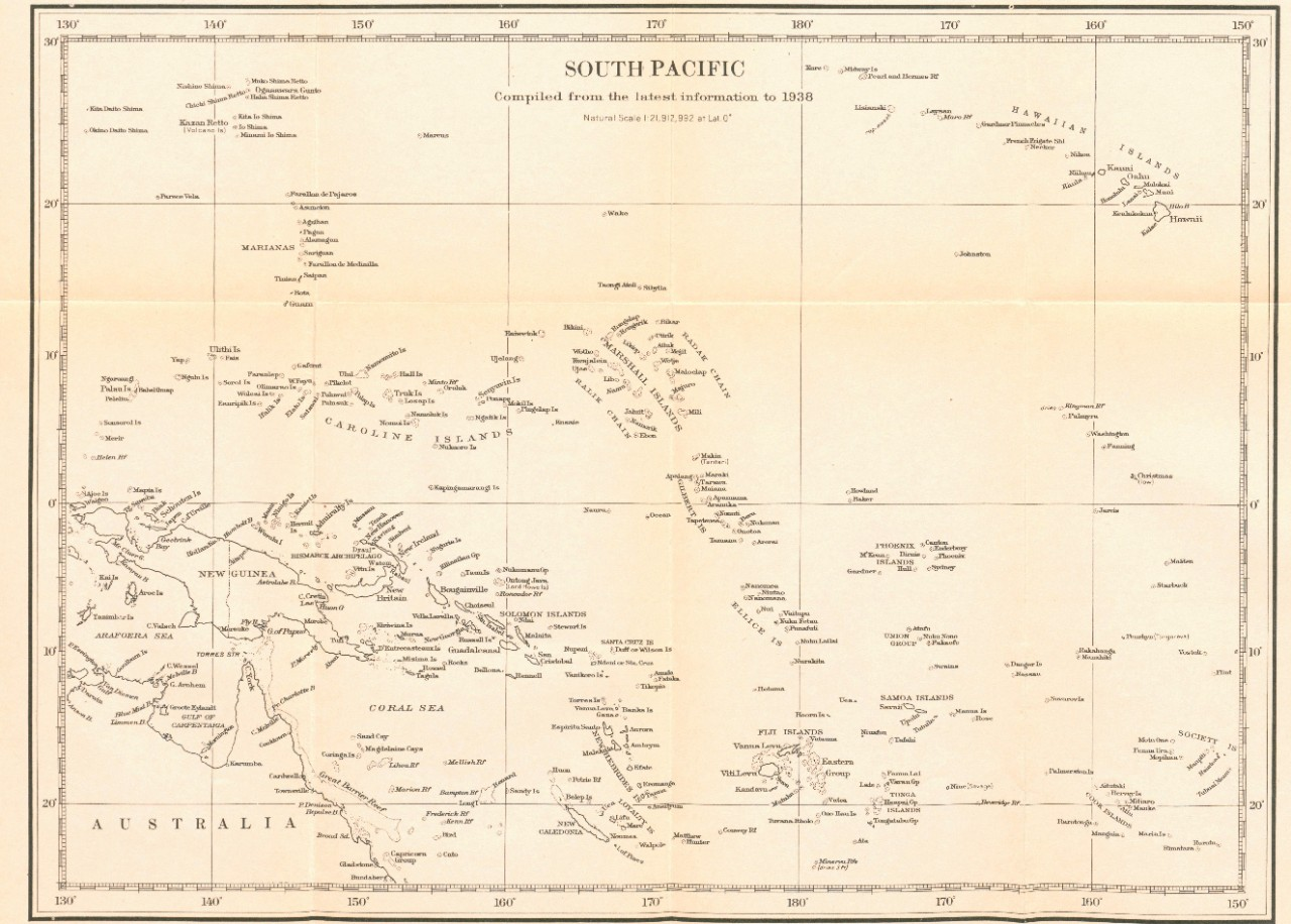 South Pacific compiled from the latest information to 1938