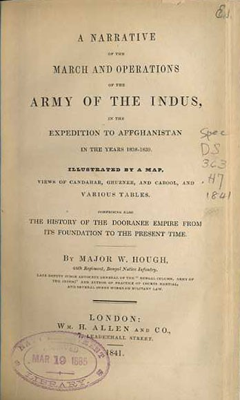 Narrative of the March and Operations of the Army of the Indus