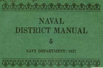 Cover of Naval District Manual, Navy Department: 1927