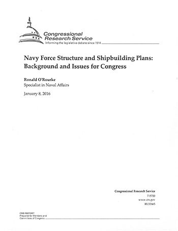 Navy Force Structure and Shipbuilding Plans cover image.