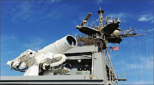 Figure 1. Laser Weapon System (LaWS) on USS Ponce