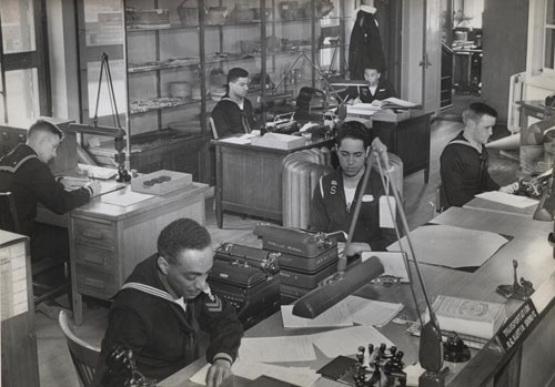 """Supply and disbursing office: US Naval Training School, Hampton Institute, Hampton, Virginia."""