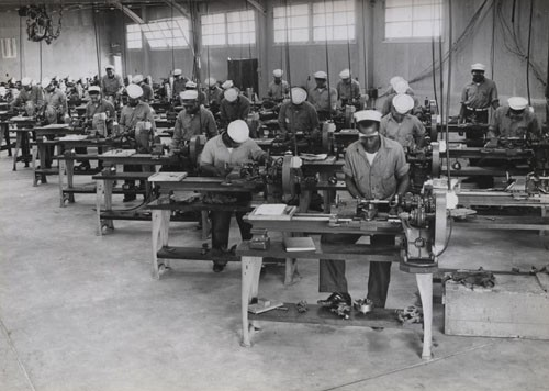 """Machinist's Mates School, US Naval Training Station Great Lakes, Illinois."""