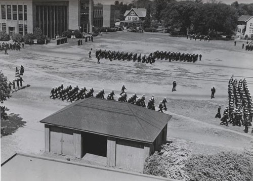 """Inspection Day Parade, Hampton Institute, Hampton, Virginia, under review of the Chief of Staff to the Commandant, Fifth Naval District."""