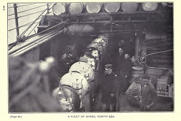 A fleet of mines, North Sea.