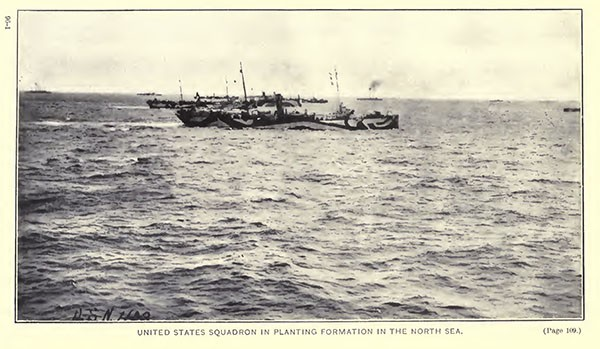United States Squadron in planting formation in the North Sea.