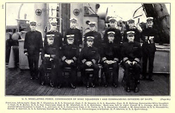Commanding officers of U. S. Minelaying Force on board the San Francisco.
